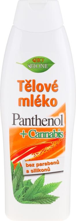 Tělové mléko - Bione Cosmetics Pantenol + Cannabis Body Lotion