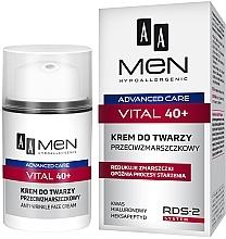 Parfémy, Parfumerie, kosmetika Krém na obličej proti vráskám - AA Men Advanced Care Vital 40+ Face Cream Anti-Wrinkle