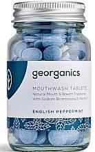 Parfémy, Parfumerie, kosmetika Tablety na oplachování ústní dutiny Anglická máta - Georganics Natural Mouthwash Tablets English Peppermint