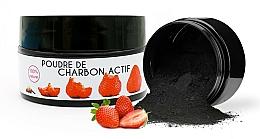 Parfémy, Parfumerie, kosmetika Bělící prášek Jahoda - Keeth Strawberry-flavoured Activated Charcoal Bleaching Powder
