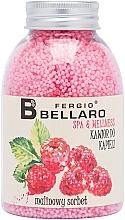 Parfémy, Parfumerie, kosmetika Zjemňující kuličky do koupele Malinový sorbet - Fergio Bellaro Raspberry Sorbet Bath Caviar