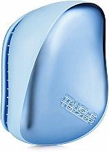 Parfémy, Parfumerie, kosmetika Kompaktní kartáč na vlasy - Tangle Teezer Compact Styler Sky Blue Delight Chrome