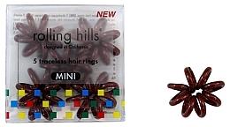 Parfémy, Parfumerie, kosmetika Gumička-náramek do vlasů, mini, hnědá - Rolling Hills 5 Traceless Hair Rings Mini Brown
