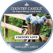 Parfémy, Parfumerie, kosmetika Čajová svíčka - Country Candle Country Love