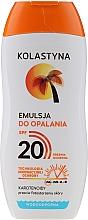 Parfémy, Parfumerie, kosmetika Emulze na opalování voděodolná - Kolastyna Suncare Emulsion SPF20
