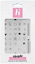 Parfémy, Parfumerie, kosmetika Nálepky na nehty - Hi Hybrid Simple Nail Stickers