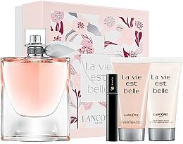 Parfémy, Parfumerie, kosmetika Lancome La Vie Est Belle - Sada (edp/100ml + b/lot/50ml + sh/gel/50ml + mascara/2ml)