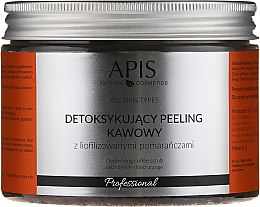 Parfémy, Parfumerie, kosmetika Kávový scrub-detox na tělo Pomeranč - Apis Professional Detoxifying Coffee Scrub Orange