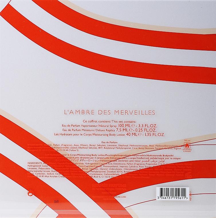 Hermes L`Ambre des Merveilles - Sada (edp/100ml + edp/7.5ml + b/lot/40ml) — foto N3