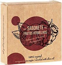 "Parfémy, Parfumerie, kosmetika Přírodní mýdlo ""Červené ovoce"" - Essencias De Portugal Senses Red Fruits Soap With Olive Oil"