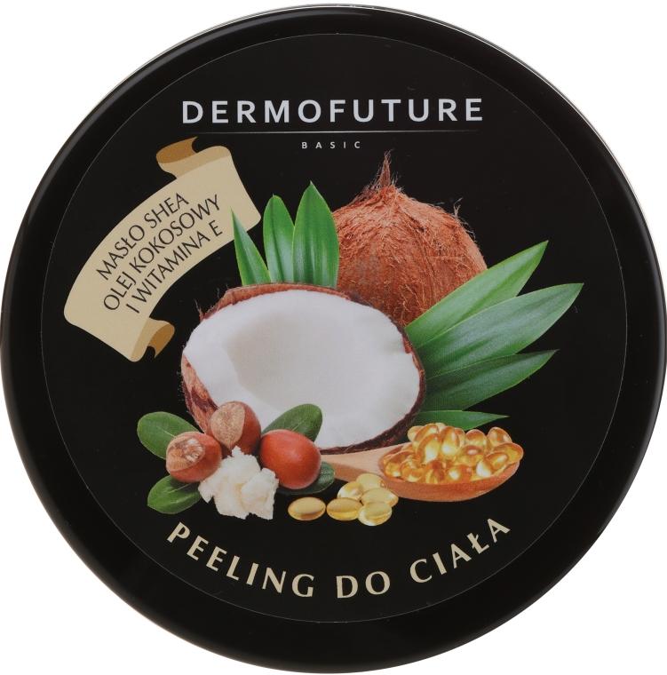 Cukrový tělový peeling s bambuckým máslem a kokosem - DermoFuture Sugar Body Scrub