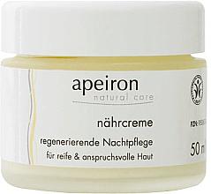 Parfémy, Parfumerie, kosmetika Výživný regenerační noční krém - Apeiron Nourishing Regenerating Night Cream