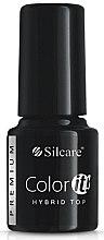Parfémy, Parfumerie, kosmetika Vrchní vrstva na nehty - Silcare Color IT Premium Hybrid Top Coat Gel
