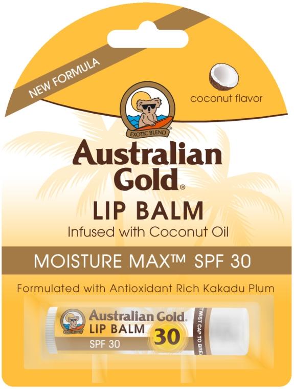"""Balzám na rty """"Kokos"""" - Australian Gold Lip Balm Infused With Coconut Oil SPF 30 — foto N1"""