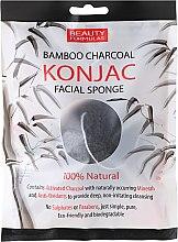 Parfémy, Parfumerie, kosmetika Čisticí houbička - Beauty Formulas Konjac Bamboo Charcoal Facial Sponge