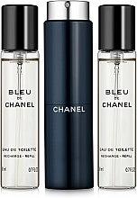 Parfémy, Parfumerie, kosmetika Chanel Bleu de Chanel - Toaletní voda (edt/20ml + refilles/2x20ml)