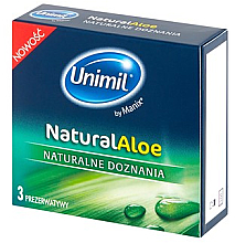 Parfémy, Parfumerie, kosmetika Kondomy pro ni, 3 ks - Unimil Natural Aloe