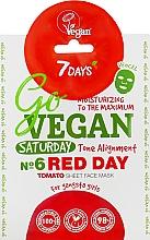 Parfémy, Parfumerie, kosmetika Plátýnková pleťová maska For gangsta girls - 7 Days Go Vegan Saturday Red Day