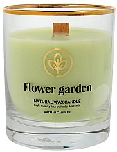 Parfémy, Parfumerie, kosmetika Dekorativní svíčka ve sklenici, 8x9,5cm - Artman Flower Garden