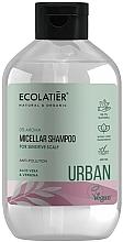 Parfémy, Parfumerie, kosmetika Micelární šampon pro citlivou pokožku hlavy Aloe vera a sporýš - Ecolatier Urban Micellar Shampoo