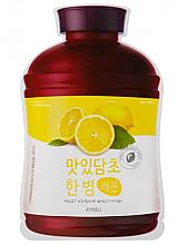 "Parfémy, Parfumerie, kosmetika Ovocná látková maska ""Citron"" - A'Pieu Fruit Vinegar Sheet Mask Lemon"