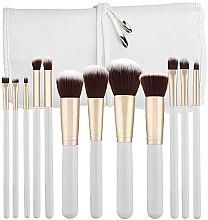 Parfémy, Parfumerie, kosmetika Sada štětců na líčení, bílá, 12ks - Tools For Beauty