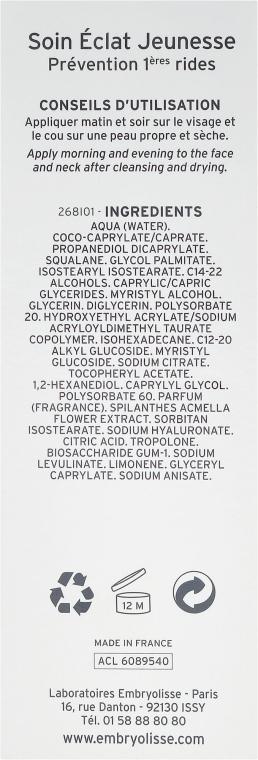 Krém gel proti prvním známkám stárnutí - Embryolisse Anti-Aging Youth Radiance Care — foto N3