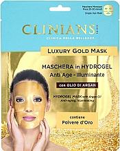 Parfémy, Parfumerie, kosmetika Hydrogelová pleťová maska s arganovým olejem - Clinians Hydrogel Mask With Argan Oil And Golden Powder