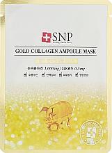 Parfémy, Parfumerie, kosmetika Maska na obličej se zlatem a kolagenem v ampulích - SNP Gold Collagen Ampoule Mask