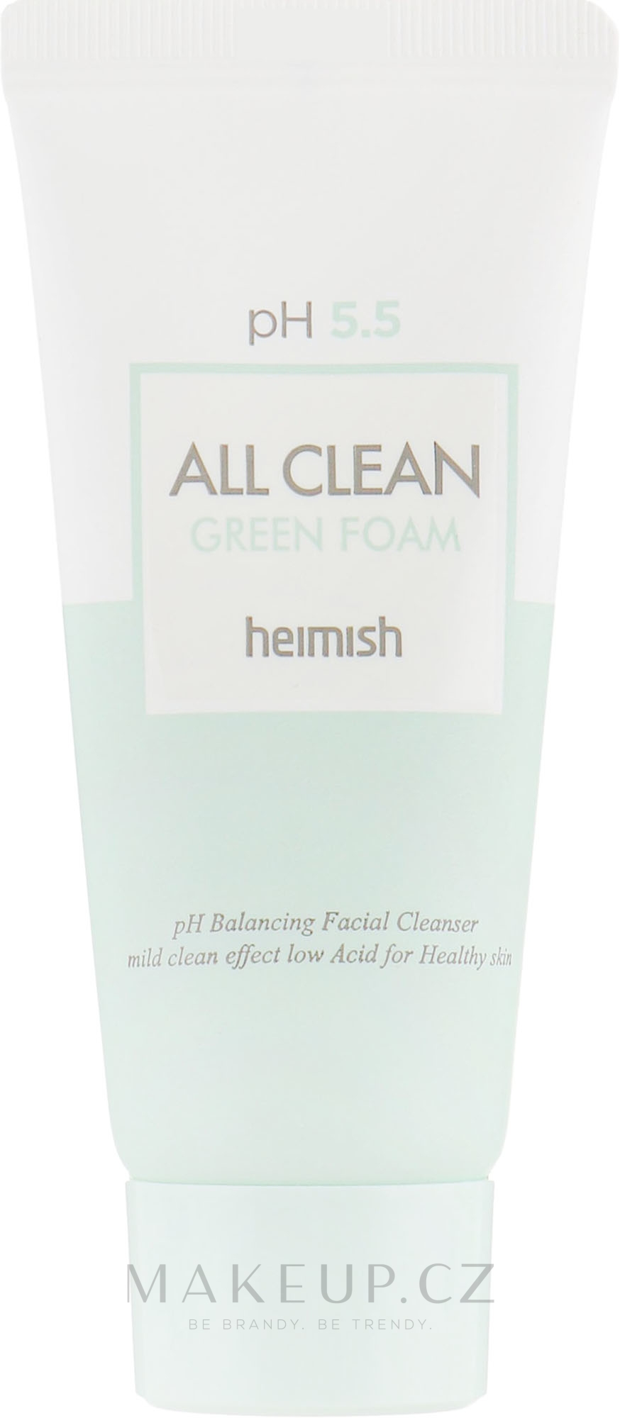 Čistící pěna na obličej - Heimish All Clean Green Foam pH 5.5 (mini) — foto 30 ml