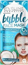 Parfémy, Parfumerie, kosmetika Bublinková vyživující pleťová maska - Eveline Cosmetics Coconut Bubble Face Mask