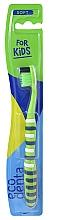 Parfémy, Parfumerie, kosmetika Dětský zubní kartáček, měkký, zelený - Ecodenta Soft Toothbrush For Children