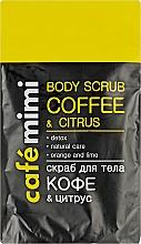 Parfémy, Parfumerie, kosmetika Tělový peeling Káva a citrus - Cafe Mimi Body Scub Coffee & Citrus