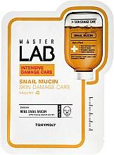 Parfémy, Parfumerie, kosmetika Plátýnková pleťová maska se šnečím extraktem - Tony Moly Master Lab Snail Mucin Mask
