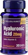 """Parfémy, Parfumerie, kosmetika Doplněk stravy """"Kyselina hyaluronová s vitamínem C 20 mg"""" - Holland & Barrett Hyaluronic Acid With Vitamin C"""
