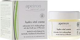 """Parfémy, Parfumerie, kosmetika Krém na obličej """"Výživa a regenerace 24 h"""" - Apeiron Hydro Vital 24h Nourishing&Regenerating Cream"""