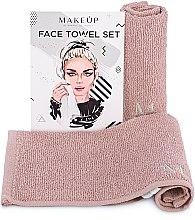 """Parfémy, Parfumerie, kosmetika Cestovní sada ručníků na obličej, béžová """"MakeTravel"""" - Makeup Face Towel Set"""