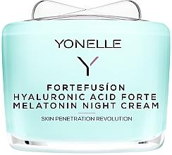 Parfémy, Parfumerie, kosmetika Noční krém s melatoninem a kyselinou hyaluronovou - Yonelle Fortefusion Hyaluronic Acid Forte Melatonin Night Cream