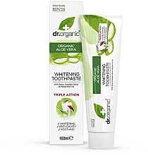 Parfémy, Parfumerie, kosmetika Yubní pasta Aloe Vera - Dr. Organic Aloe Vera Whitening Toothpaste
