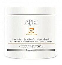 Parfémy, Parfumerie, kosmetika Změkčující solná lázeň pro nohy - APIS Professional Softening Honey And Orange Salt