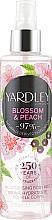 Parfémy, Parfumerie, kosmetika Tělový sprej - Yardley Blossom & Peach Moisturising Fragrance Body Mist