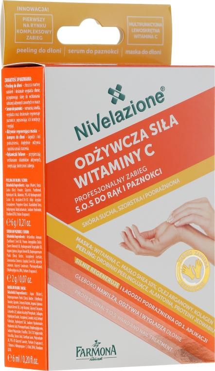 3-etapový přípravek na obnovu pokožky rukou a nehtů - Farmona Nivelazione SOS Hand & Nail Treatment