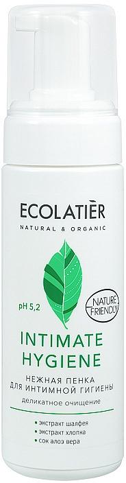 Jemná pěna pro intimní hygienu s výtažky šalvěje a bavlny - Ecolatier Intimate Hygiene