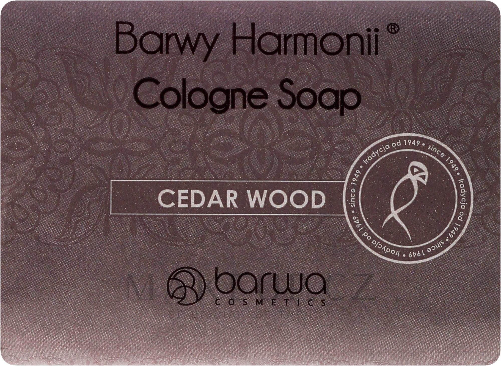 Mýdlo s extraktem z cedru - Barwa Harmony Cedar Wood Soap — foto 190 g