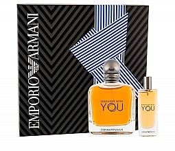 Parfémy, Parfumerie, kosmetika Giorgio Armani Emporio Armani Stronger With You - Sada (edt/50ml + edt/mini/15ml)