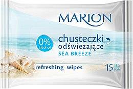 """Parfémy, Parfumerie, kosmetika Osvěžující ubrousky """"Sea Breeze"""", 15ks - Marion"""