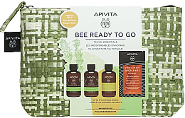 Parfémy, Parfumerie, kosmetika Sada - Apivita Bee Ready To Go Travel Essentials (b/milk/75ml + sh/gel/75ml + shmp/75ml + h/mask/20ml + bag/1)