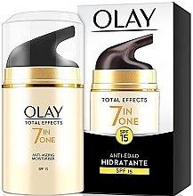 Parfémy, Parfumerie, kosmetika Zvlhčující denní krém SPF 15 - Olay Total Effects Anti-Edad Hidratante SPF15