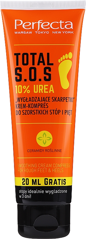 Kompresní krem na nohy - Perfecta Total S.O.S. 10% Urea