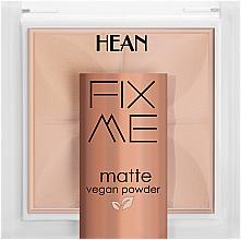 Parfémy, Parfumerie, kosmetika Fixační pudr - Hean Fix Me Matte Vegan Powder